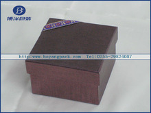 dark brown cardboard box