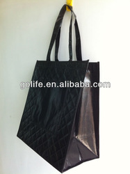 2013 New Arrival Diamond pattern nonwoven with double layers eco-friendly promtion bag