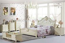 Contemporary Timber Bed,Korea Girl's Bedroom Furniture Bed Wood Frame,Light Violet Design Bedroom Set Furniture,