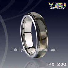 Nice tungsten carbide rings inlay shell,free allergy and never fade,shiny polished,comfort fit rings