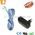 las luces led de textiles del cable eléctrico