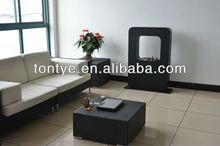 Modern Metal Outdoor Floor Free Standing Fireplace with CE Certificate+Stainless Steel 1.5L Burner+ Metal Furniture