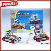 Plastic construction toy vehicles