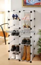 DIY plastic shoes rack