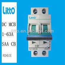 Solar 2 Pole 32A amp mcb circuit breaker with TUV, CB, SAA certificate