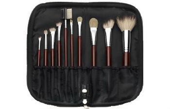 Brown Make up 10pcs Brush Set,Pro makeup brush set 10pcs. cosmetic Brush Set BrushsWith Bag