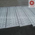 Outside metal scaffold plank