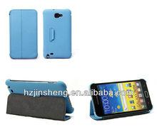 Fashion Blue PU mobile phone case for samsung i9220