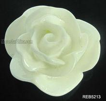 18mm white resin flower cabochons 2013 hot selling resin rose flower