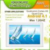 AMPE A10 Quad Core 3G phone call Tablet PC sim card slot Qualcomm Cortex-A9 1GB DDR3 4GB ROM Android 4.1