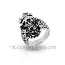 Vintage Skull Ring, Stylish Stainless Steel Skull Ring For Men
