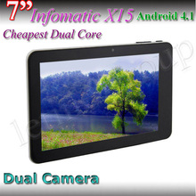 Customized MID 7 Inch Infotmic X15 Dual core dure camera Android tablet