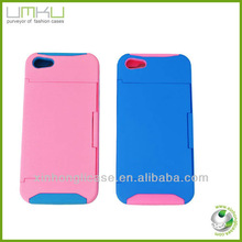 Stand case PC+TPU full case cover for iphone 5