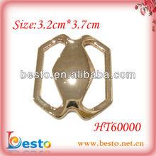 HT60000 Decorative women gold metal shoe buckles 2012