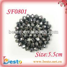 SF0801 High quality bulk wholesale diamond shoe clips with glass bead