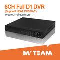 8ch h264 d1 enregistreur dvr p2p/fonction nat avec du ce, fcc, les certificats de rohs