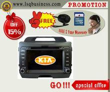 "LSQ Star Promotion Model 7""for KIA Sportage Car DVD Player with BT 3G GPS Radio"