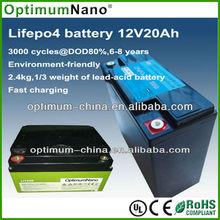 12v /24/36/48V ups battery 12v 20ah