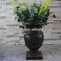 bronce clásica de resina jardín olla romana