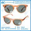 Unisex Shiny Crystal Orange Plastic Brand Sunglasses