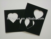 black heart multi opening photo mat