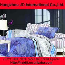 100% cotton purple prints bed spreads