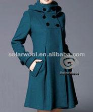 Women's winter woolen coat