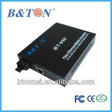 fiber optic to 10/100/1000Mbps Ethernet media conversion