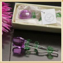 Purple Crystal Rose decoração para o batismo presentes de doação