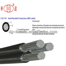 0.6/1kv,10kv/11kv Insulated Aerial Cable ABC wires 50mm2