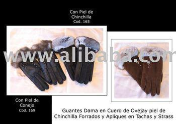Chinchilla Fur Gloves