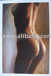 lady nud oil painting