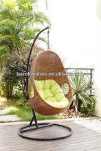 Swing chairs of rattan garden hammock/patio chairs