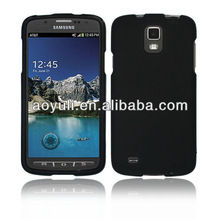 for Samsung I537 Galaxy s4 Active case, black rubberized two piece