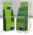 3 nivel de exhibición de la cartulina para el bolso, De papel del supermercado estantes