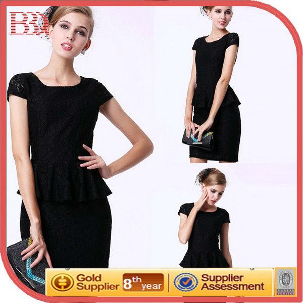 Nuevo modelo negro Alibaba de China ropa mujeres