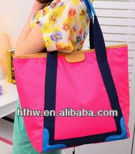 2013 new dsign Fluorescent color portable shoulder bag leisure bag big bag hit the color candy colored handbag