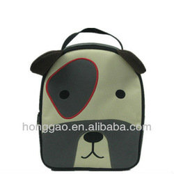 Dog face insulated cute kids lunch bag
