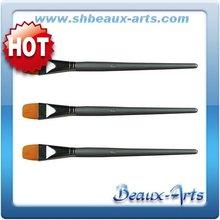 art supply manufacturers,nylon brush,flat brush,short, silver lacquered handle brush