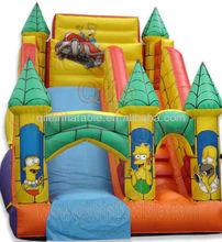 high quality fun slide/giant slide/hippo water slide/indoor slide