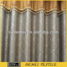 printed silk drapes