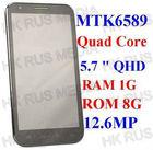 "5.7 "" inch Changjiang N7300 MTK6589 Quad Core 1.2GHz android 4.2.1 mobile smartphone 1GB 8GB dual sim GPS"