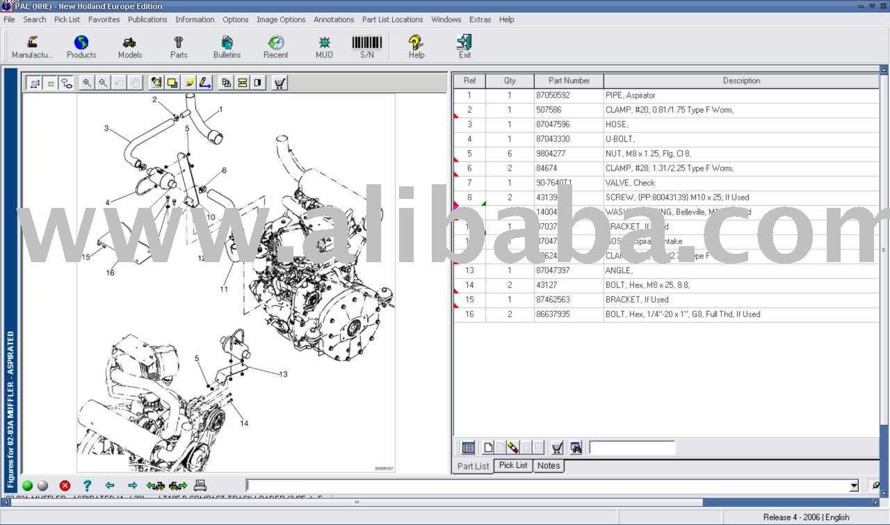 catalogo elettronico new holland pezzi di ricambio software