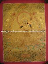 Padmasambhava guru thangka - Padmasambhava Guru High Quality Tibetan Thangka Nepal Crafts