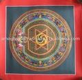 Traditionl Mandala - hermosa rara Cosmos Mandala tibetana Thangka Nepal