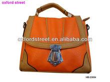 Fashion PU orange desiger discount bag