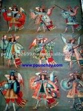 "Art Oil Painting ""Series of Archangels"" 47x31"" Peru"