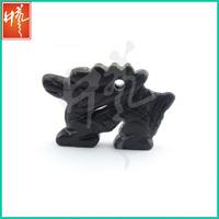 Custom black jasper carved hip hop pendant