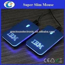 Mini mouse optical with laser led logo light up