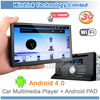 Google Android 4.0 car Pad PC support 3G WIFI GPS Navigation DVR Bluetooth TV